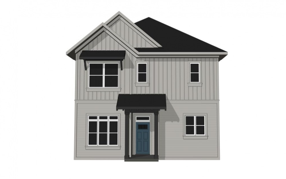 One Bedroom Cottage with Private Driveway Parking (A1U) - 1 bedroom floorplan layout with 1.5 bath and 851 square feet. (Exterior)