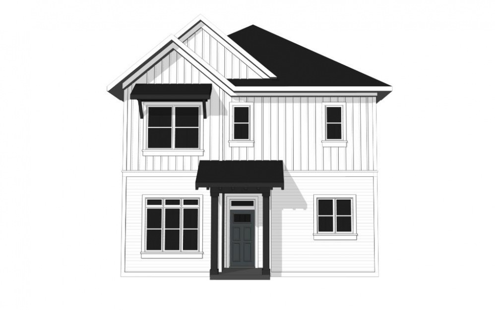 One Bedroom Cottage (A1C ) - 1 bedroom floorplan layout with 1.5 bath and 851 square feet. (Exterior)