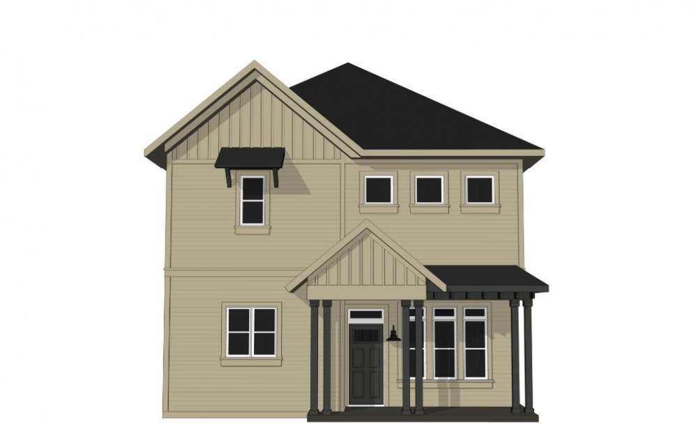 Two Bedroom Cottage with Private Driveway Parking (B1U) - 2 bedroom floorplan layout with 2.5 baths and 1207 square feet. (Exterior)